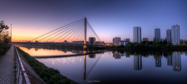 Aube sur Pont Eric Tabarly   Nantes-2